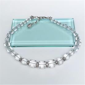 """_,CUBES NECKLACE WITH PAVE ROUND DIVIDERS. 15.5""""-18"""" LONG"""