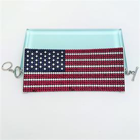 ",RARE LARGE UNITED STATES FLAG BRACELET IN ORIGINAL BOX WITH COA. TOGGLE CLOSURE. 2.5"" WIDE, ADJUSTABLE FROM 7"" TO 8"" LONG"