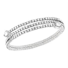 -5073592 SILVER TWISTY BANGLE DROP