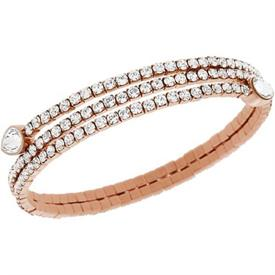 -5073594 Rose gold plated twisty bangle.