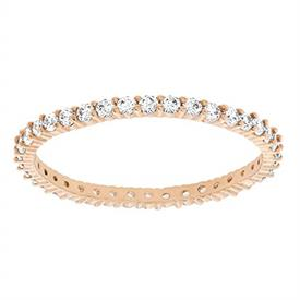 -,5083129 VITTORE STACKING RING IN CLEAR & ROSE GOLD. SIZE 55, US SIZE 7
