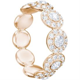 -,5424994 ANGELIC RING IN CLEAR & ROSE GOLD. SIZE 55, US SIZE 7