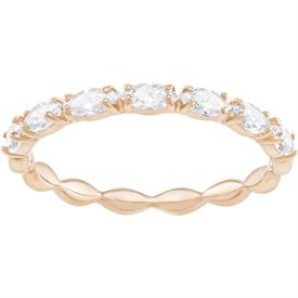-,5351769 VITTORE MARQUISE RING IN CLEAR & ROSE GOLD. SIZE 55, US SIZE 7