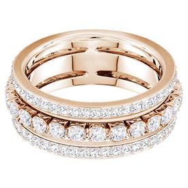 -,5419854 FURTHER RING IN CLEAR & ROSE GOLD. SIZE 55, US SIZE 7