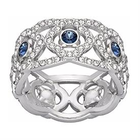 _,'DAYLIGHT' RING IN BLUE. SIZE 52/US 6