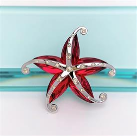 """,RETIRED 'CREMONA' CRYSTAL PARADISE STARFISH BROOCH WITH ORIGINAL BOX FROM THE SOUTH SEAS & EXOTIC FISH COLLECTIONS. 2"""" WIDE"""