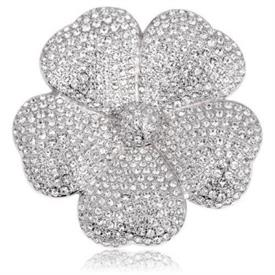 "_,'MARYLOU' PAVE FLOWER BROOCH. 1.75"" WIDE"