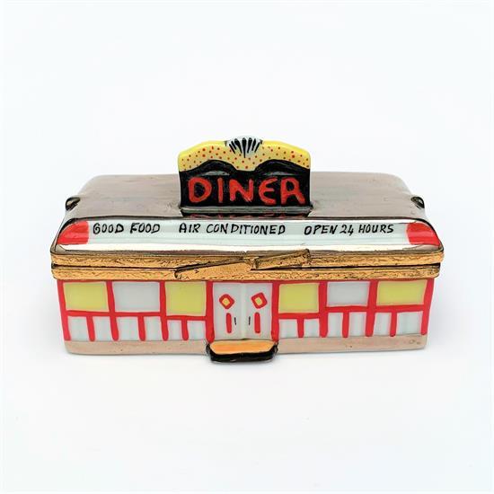 "Limoges ,SIGNED ROCHARD 'RECETTES DE CUISINE' COOK BOOK TRINKET BOX. 1.8"" LONG, 1.6"" WIDE, 1"" TALL"