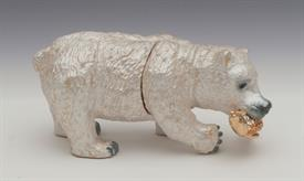"-,WHITE BEAR WITH FISH BOX. 1.8"" TALL, 3.8"" LONG, 1.8"" WIDE"