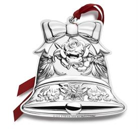 "_,2016 8th Ed. Bell Repousse Ornament Sterling Silver Ornament by Kirk Stieff MSRP $240 3.5"" by 3.5"" Made in USA #517054 UPC#7309"