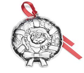 ,2018 10th Ed. Wreath Repousse Ornament 10th Edition Sterling Silver made by Kirk Stieff in USA Year 2018. MSRP $240 UPC#73093670470