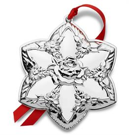 "-2019 Repousse Star Sterling Silver Ornament made by Kirk Stieff in USA 3""W b 3.5""H MSRP $240 UPC#730936071958"