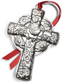 "-,2020 Repousse Kirk Stieff Cross Sterling Silver Christmas Ornament made in USA 12th Edition MSRP $240 3""Wide by 4.25"" Tall"