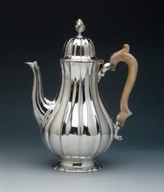 ",STERLING COFFEE POT, LONDON ENGLAND 26.4 TROY OUNCES, 10.25"" TALL, FROM GARRARDS PANTON STREET LONDON"