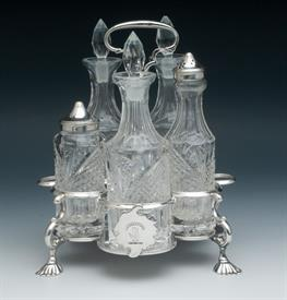 """,CASTOR/CRUET SET ENGLISH STERLING EARLY 20TH CENTURY MADE IN LONDON WEIGHT 21.35 TROY OUNCES NICE CONDITION 8"""" TALL"""