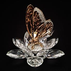 ",GOLD BUTTERFLY #7551 100 000 / 7551NR100. PART OF THE CRYSTAL IN FLIGHT SERIES. 4"". 1985-1988"