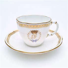 ,_CARLTON GOLD TEA CUP & SAUCER CELEBRATING THE BIRTH OF PRINCE GEORGE, FIRST CHILD OF THE DUKE & DUCHESS OF CAMBRIDGE, 2013