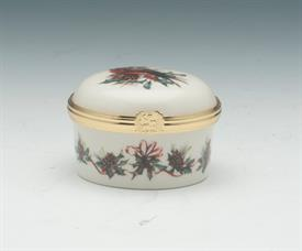 "ROUND BOX WITH CARDINAL 2""D X 1.5""H WITH ORIGINAL BOX"
