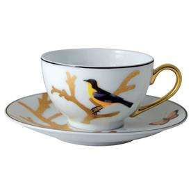 -SET OF 4 TEA CUPS & SAUCERS.