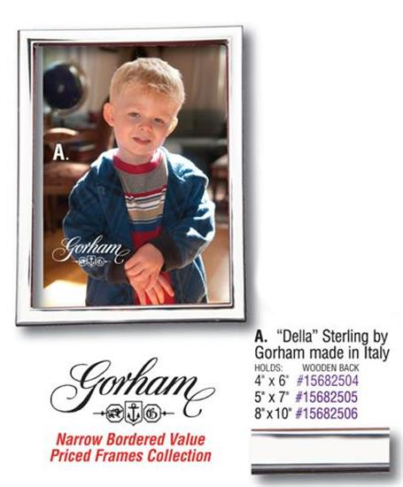 Gorham 5074289 4X6 DELLA STERLING SILVER FRAME BY GORHAM  - CLOSE OUT PRICED - WAS: $99