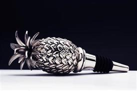 "-72651 Pineapple Bottle Stopper 5""longNickled Plated a work of art"