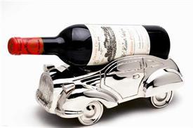 -9088 Vintage Car bottle holder 11x6x4nickel plated