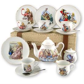 _,ALICE IN WODERLAND CHILD'S PICNIC/TEA SET IN CASE