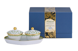 -THREE PIECE HEIRLUMINARE CANDLE SET WITH TRAY
