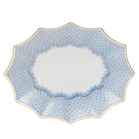 """-LARGE 12 SIDED TRAY. 11.5"""" LONG, 9.25"""" WIDE"""