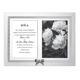 "-DOUBLE 5X7"" SILVERPLATE INVITATION FRAME"