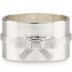 "-4 PIECE NAPKIN RING SET. INCLUDES FOUR 2"" WIDE SILVER PLATED NAPKIN RINGS"