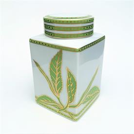",RARE 'TEA ART' CADDY/CANISTER BY YANG. MOTIF NUMBER 5 FROM THE 'TEA COLLECTOR'S ESSENTIALS' SERIES. 4.7"" TALL."