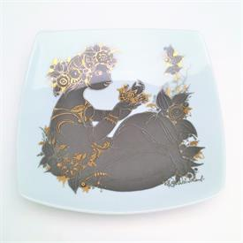 ",'SAMURAMAT' QUATRE COULEURS (FOUR COLORS) DISH BY BJORN WIINBLAD. 7"" WIDE. ALSO SPELLED SHAMMURAMAT"
