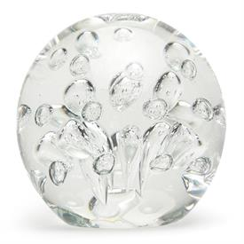 -LARGE CLEAR SPA BUBBLES PAPERWEIGHT. 4""