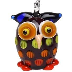 "-PURPLE OWL ORNAMENT. 1.5"" TALL"