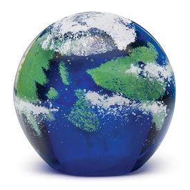 -LARGE EARTH 'GLOW' PAPERWEIGHT. GLOWS IN THE DARK. 4""