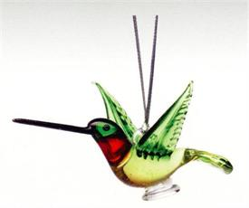 _,HUMMINGBIRD ART GLASS ORNAMENT MADE BY DYNASTY GALLERY