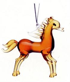 _,HORSE ART GLASS ORNAMENTS MADE BY DYNASTY GALLERY