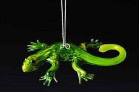 _,GECKO GREEN ART GLASS ORNAMENT MADE BY DYNASTY GALLERY
