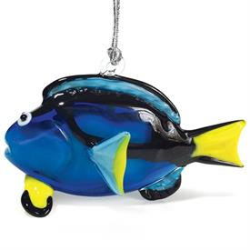 "-,BLUE TANG ORNAMENT. 3"" LONG"