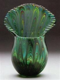 -PEACOCK TAIL VASE 10""
