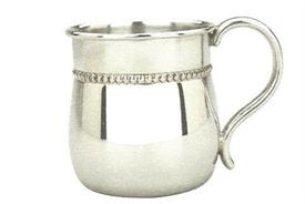"-PEWTER CUP 6 OZ. 2  3/4"" HIGH  BULGED"