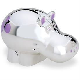 -,#9131 HIPPO COIN BANK TARNISH RESISTANT SILVERPLATE
