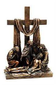 ",WU7587OA4 DESCENT FROM THE CROSS IN CALVERY 12.25""T COLD CAST BRONZE"