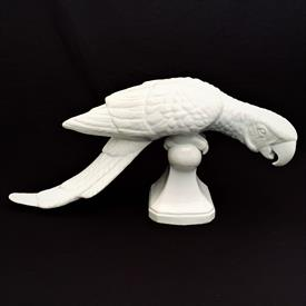 ",RARE 1980 WHITE PARROT ON PERCH FIGURINE. MADE IN MEXICO. 8"" TALL, 15.5"" LONG, 6"" WIDE"