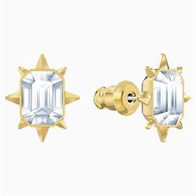 """-,5494019 TAROT MAGOC STUDS IN CLEAR & GOLD TONE PLATED. .5"""" LONG"""