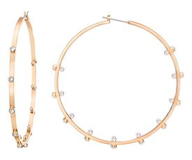 _5279789 GENNA HOOP PIERCED EARRINGS IN ROSE GOLD