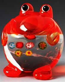 "_MINI FROG 2"" GLASS RED,ORANGE,CLEAR."