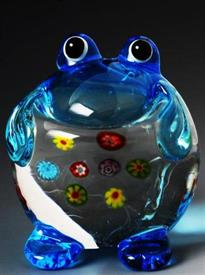 "_MINI FROG 2"" GLASS BLUE,AND CLEAR."