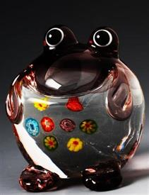 "_MINI FROG 2"" GLASS PURPLE/CLEAR."